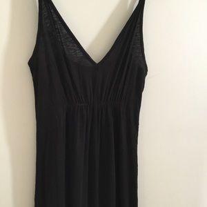 Black maxi dress v neck long NWOT